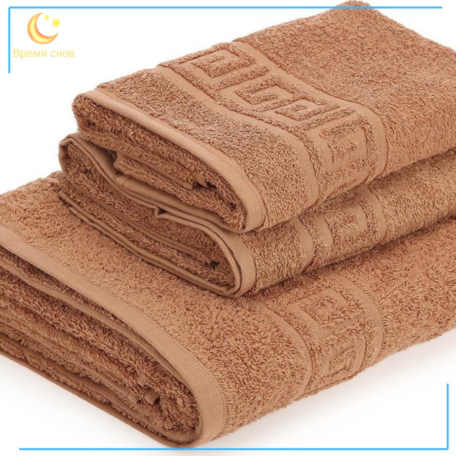 Полотенце махровое 380гр шоколад 1